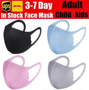 قناع الوجه فم الاطفال قناع الكبار فتى الغلاف PM2.5 تنفس الغبار مكافحة الغبار قابل للغسل قابلة لإعادة الاستخدام الجليد القطن الحرير الطفل أقنعة DHL