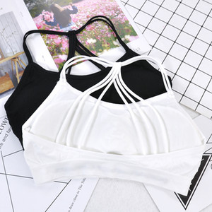 Fitness Women Sports Bra Crop Tops Yoga Sports Athletic Cotton Push Up Brassiere Vest Yoga Bra Solid Full Cup Tops Women