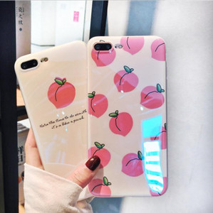 NEW 2020 FOR IPHONE 6-XR SUMMER PEACH COLOURFUL CUTE DESIGN DIRT-RESISTANT AND FALL-PROOF AND BLUE LIGHT CASE FREE SHIPPING