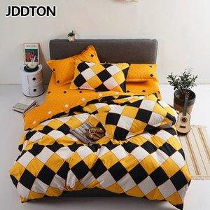 JDDTON 2020 New Nordic Estilo del lecho de manera clásica funda nórdica funda de almohada hojas de cama gemela completa reina Super King Size BE156