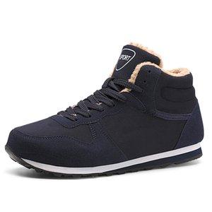 Men Boots Men Winter Shoes Plus Size 34-48 Warm Ankle Botas Hombre For Leather Winter Boots Shoes Men Plush Winter Sneakers womens Unisex