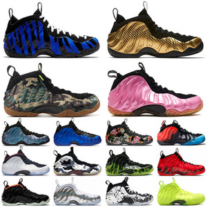 air foamposite penny hardaway basketball shoes Schäume Basketballschuhe Memphis Tiger Metallic Gold Männer Armee Camo Pearlized Pink Abalone Pro Volt Designer Sport Turnschuhe