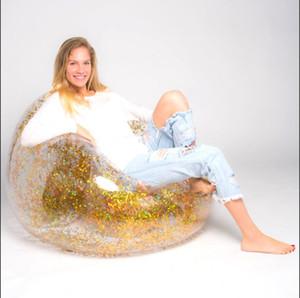 Lantejoula sofá inflável sofá preguiçoso rosa cadeira inflável cadeira água pausa para o almoço Lantejoula espreguiçadeira fezes inflável