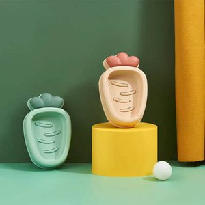 Soap box personality creativity lovely drainage double layer household toilet soap box Nordic soap holder with cover