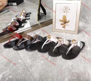 Xshfbcl Designer Summer marque women Flip flops Slipper lusso Fashion Genuine Leather slides sandals Metal Chain Ladies Casual shoes 2020