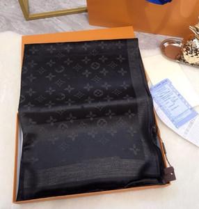 2020 Classic shiny gold and silver thread Silk scarves designer scarf fashion women scarf soft shiny scarf shawl men women classic