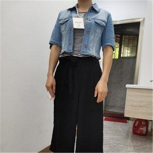 2020 Yüksek Bel Kısa Denim Ceket Mavi Kadın Giyim Sonbahar İnce İnce Bahar Bayan Ceket Kot Streetwear Coat Giyim İnce