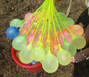 111pcs Wasserballons Sommer Outdoor-Party-Spielzeug Rapid Injection Wasser-Ballon Bomben Neuheit Gag-Spielwaren für Kinder DHL-freies Verschiffen 07