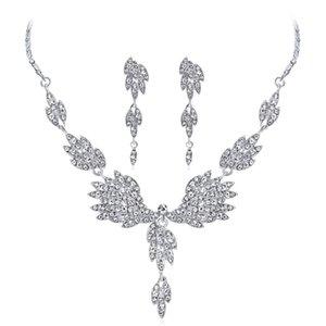 New Bridal Jewelry Set Wedding Accessories Necklace Earrings With Rhinestone Bidal Fashion Jewelry Sets BW-CA225