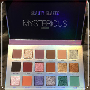 Newest cosmetic Beauty Glazed Mysterious Eyeshadows palettes 18 Color Eye shadow Palette Shimmer Matte Eye shadow Palette DHL