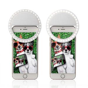 Rechargeable selfie Annulaire pour iPhone Téléphones intelligents Photographie Amélioration LED Portable Fill-in lampe avec câble USB
