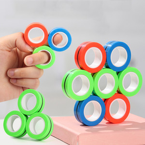 3pcs de Fingears magnética del anillo magnético antiestrés estrés relevista Anillo Juguetes dedo anular Fidget anillos magnéticos adultos regalo de los niños BH2689 TQQ