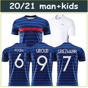 Maillots de football 2020 2021 MBAPPE GRIEZMANN POGBA 20 21 soccer jersey maillot de foot FEKIR PAVARD football soccer shirt hommes enfants