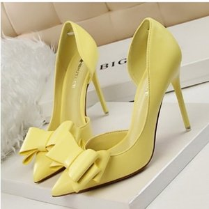 Shoes Women Heels Elegant Women Pumps Bow-knot High Heels Women Shoes Pointed Stiletto Party Bridal Wedding Shoes Female