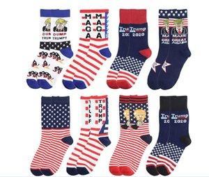 Trump Socken Präsident 2020 MAGA Trump Brief Stockings Gestreifte Sterne US-Flagge Sportsocken MAGA Socken-Partei-Bevorzugung AHF350
