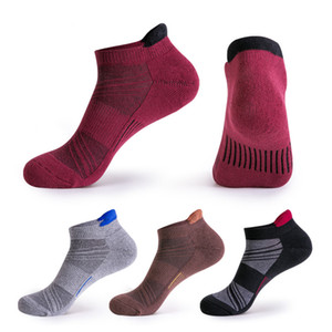 Profession Sports Compression Socks For Men Thick Slip Cycling Basketball Socks Short Outdoor Running Sock Breathable Sweat