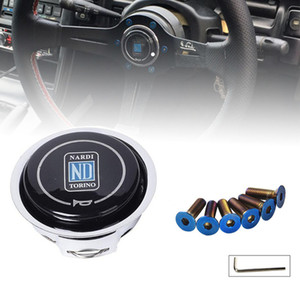 Steering Wheels & s Universal ND Horn Cover Metal + Plastic Modified Car Horn Button Racing Car Steering Wheel Horn Cover