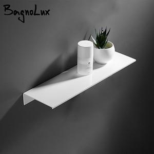 Beyaz 300-500MM Alüminyum Duvar Tipi Tek Kademe Çok Amaçlı Banyo Mutfak Duş Odası Tuvalet Aksesuarları Raflar T200730 Raf Monteli