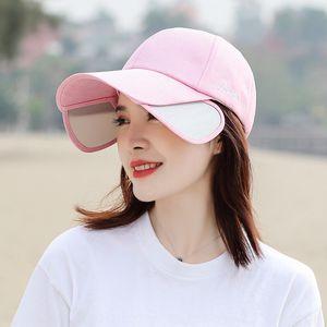 Long eaves baseball Women's new shade Korean fashion all-match Baseball sun hat summer sun hat cap cap men