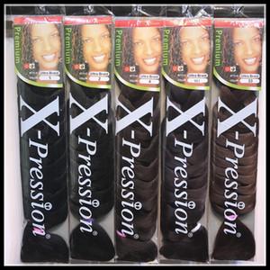 EPACK Xpression Örgü Saç 82 inç 165g paketi sentetik Kanekalon Saç Tığ Örgü tek renk Premium Ultra jumbo Örgü saç