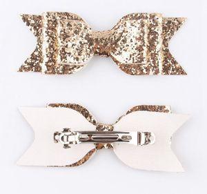 Girls Sequin Big Bur Hairclips Enfants Glitter Pinzas Para el Pelo del Arco Madchen Criel Coiffure Brillant Coiffure Butterfly Filles Bow Cheveux Clips