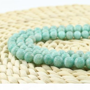 Natural Gemstone Loose Beads for Jewelry Making 6 8 10mm 15 inch Strand Per Set L0097#