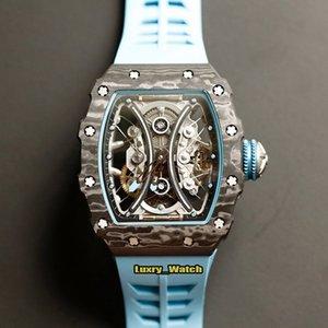 mens designer watchesJB version RM 53-01 Pablo Mac Donough NTPT Carbon Fibre Case Real Tourbillon Automatic RM53-01 Mens Watch S