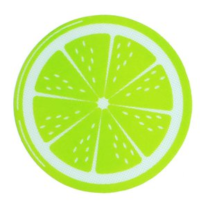 Round lemon silicone Wholesale approved Green Round shape Silicone Mats Wax Non-Stick Pads Silicone Dry Herb Food Grade Baking Mat Dabber