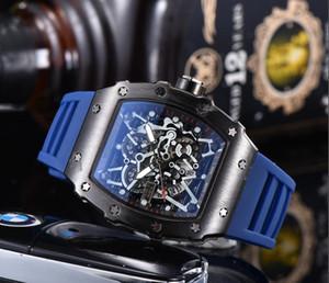 Новые часы бренда Череп спортивные часы мужчин вскользь скелет кварцевых часов цветы набрать форму MONTRE Homme SPROT ЧАСЫ