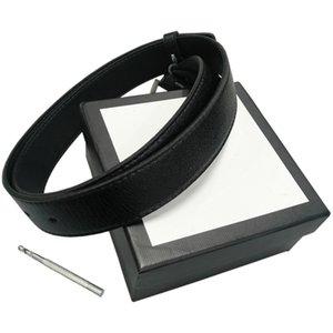 Gürtel Damen Gürtel Herren Gürtel Leder Black Belts Frauen Schlange große Goldschnalle Männer klassische zufällige Perlen-Gurt Ceinture White Box 1452 3698 5744