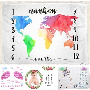 2019 Newborn baby Monthly Growth Milestone Blanket Photo Props Photography Props Background Cloth Commemorate Blanket