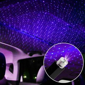 미니 LED 자동차 지붕 스타 나이트 라이트 프로젝터 분위기 갤럭시 램프 USB 장식 램프 조정 자동차 실내 장식 조명