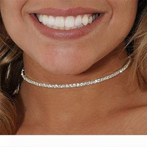 Good Quality Crystal Rhinestone Chokers Fashion Jewelry Gift Beach Sparkling 18K Gold 925 Silver Necklaces Trendy Party Accessories