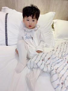 Haute qualité coton bébé nouveau-né barboteuse couvertures Swaddle de + bavette + PRÊTE chapeau bébé fille Vêtements Mignon costume cadeau