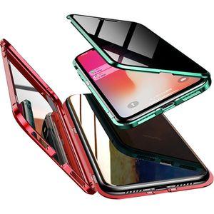 La copertura massima privacy magnetica adsorbimento temperato iPhone Per la cassa di vetro Metallo Telefono 11 pro MAX XR Xs 8 7 Plus magnetici anti copertina
