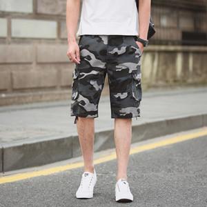 Мужские шорты лето плюс размер камуфляж грузов для мужчин длина колена повседневные хлопковые короткие штаны панталон 40 42 44