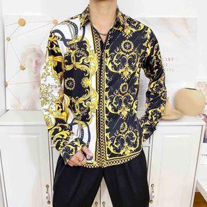 20nn modernen Männer Shirts Luxury Business Casual Männer Formal Shirts Langarm dünnen Männer Medusa Shirts