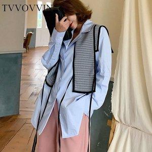 Сыпучие Ложные двухкусочный Drawstring Рубашка Новая мода 2020 весна небольшой свежий Goddess вентилятора Single Breast Повседневный Блуза V002 eHHi #