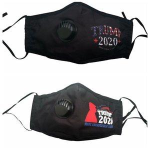 Trump Face Mask Make America Great Encore une fois Trump 2020 Lettre Imprimé anti-poussière respirable Masques respiratoires Valve OOA8276