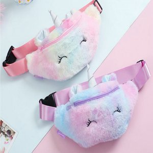 2016 Cute Unicorn Female Waist Bag Kids Fanny Pack Cartoon Plush Women Belt Bag Fashion Travel Phone Pouch Chest Bag Product Image oUPYU