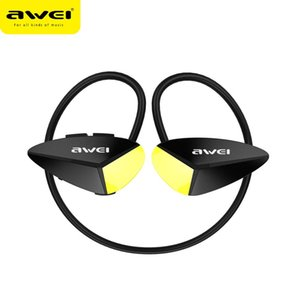 AWEI A887BL Wireless Bluetooth Earphone Earbuds With Micr Stereo Neckband Waterproof Sport Headset Noise Cancelling Earphones