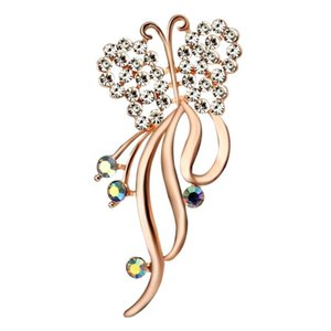 Women's Brooch Butterfly Brooches for Women Accessories Metal Pin Badges on Backpack Large Brooch Pin Rose Gold Plated Jewelry