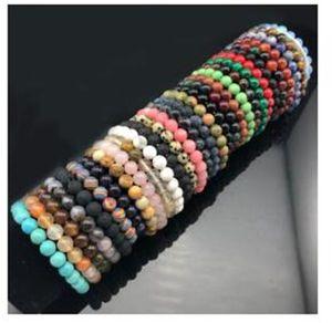 Monili delle donne Nizza Chakra rilievo Bracciale 8 millimetri di pietra naturale Lava Occhio di Tigre Matte Black Onyx Healing Beads Stretch Charm Yoga
