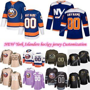 Персонализация 2020 Новости Нью-Йорк Айлендерс хоккей Несколько стилей Mens13 Barzal 27Lee подгонять любое имя любого номер трикотажных изделий хоккея