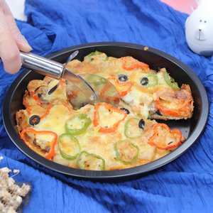 Non-Stick Pizza Baking Tray Round Deep Dish Pizza Pan Pie Tray Carbon Steel Cake Pastry Baking Mould Pan home tool FFA4241-5