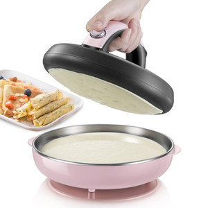 Automatic Non-stick Crepe Makers Mini Pancake Machine Pizza Maker Household Kitchen Tool Electric Baking Pan Metal Stent EU