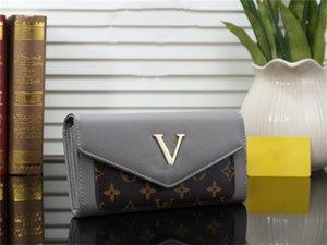 2020 new bag Free shipping billfold High quality Plaid pattern women wallet men designer handbags purse high-end designer wallet hot sale
