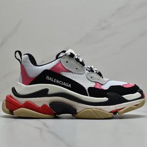 2020 de la moda del hombre FW Balenciaga Triple S retro zapatilla de deporte de Kanye West viejo abuelo formadores de diseño para mujer para hombre de los zapatos ocasionales Zapatos