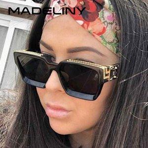 MADELINY Brand Design Unisex Фотохромные Солнцезащитные очки Мужчины Винтажная вождения ВС очки площади кадра Изменение цвета очки MA187