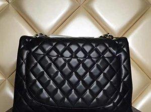 yangzizhi7 High Quality Celebrity Classial XXL Plaid Chain Bag Lambskin Double Flaps Bag Caviar Leather Women Shoulder Bag